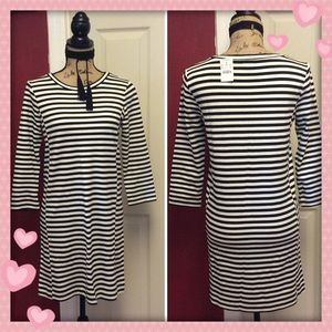 💝J. Crew striped long sleeve Shift dress💝